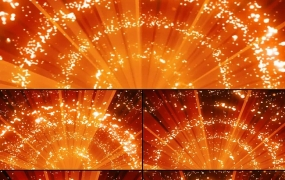 AE模板:震撼唯美粒子光条上升动态视频背景素材