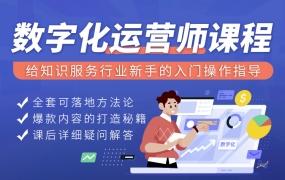 数字化运营师视频课程